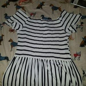 striped romper / jumper